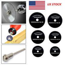 US 6X 22-50mm Metal HSS Circular Saw Blade Set Rotary Tools Cutting Wheel Discs