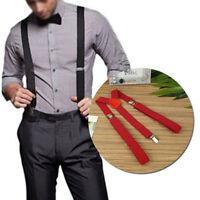 HOT Men Women Clip-on Suspenders Elastic Y-Shape Braces Biker Snowboard Trousers