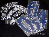 Premier League Lextra/senscilia Football Shirt Name/Number Set Navy 2007/12
