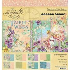 "Graphic 45 'FAIRIE WINGS' 8x8"" Paper Pad Fairy Scrapbooking/Card Making"