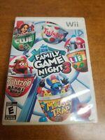 Hasbro Family Game Night 3 (Nintendo Wii, 2010)(Tested)