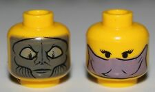 LeGo Star Wars Zam Wesell Yellow Dual Sided Minifig Head NEW