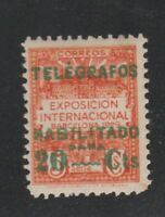 Spain Telegraph fiscal revenue stamp 1-18a-