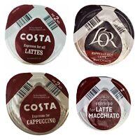 20X Tassimo Costa Baileys L'OR Espresso for Latte Cappuccino T-Discs Coffee Pods