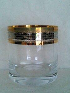 Golden Rim Rocks Glass (Set of 4)
