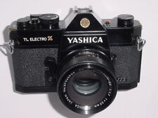 YASHICA TL ELECTRO X ITS 35mm FILM SLR CAMERA w/ YASHICA 50mm F1.7 Lens - Black
