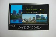 982) DAYTON OHIO OFFICE BUILDINGS AT NIGHT & DAY ~ HOTELS SHOPS BANKS THE RIVER