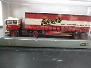 Oxford 1/76 Scale OO Gauge DAF 2800 40ft Curtainside Robson's. 76D28001