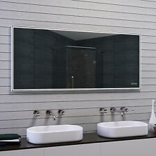 Lux-aqua Design badspiegel mit Rahmen gebürstetem Aluminium 160x70cm MAU17-160