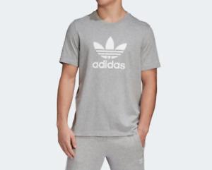 Adidas T Shirt Mens Small Authentic Originals Trefoil Logo Short Sleeve Tee Gray