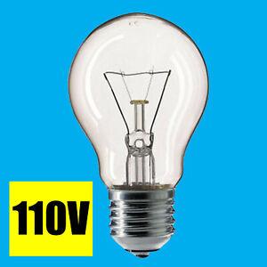 10x 60W 110V Light Bulb GLS Clear E27 ES Construction Site Festoon Outside Lamp