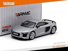 Tarmac Works GLOBAL64 1/64 Audi R8 V10 Plus Matte Silver T64G-001-SL