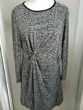 CATO Womens Sz Large Shift Dress Scoop Neck Stretch Lined Gray