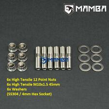 SS304 Turbo Stud Kit For Ford 250 4.1 XD XE XF 3.9 4.0 EA EB ED EF EL AU XR6 LPG