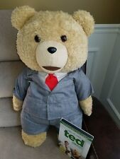 """Rated R Ted DVD Movie 24"""" Talking Thunder Buddy Plush Teddy Bear Suit Red Tie"""