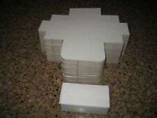 """QTY 150 SMALL WHITE BOXES GIFT BOX LOT ~ 4 1/2"""" X 2 1/4"""" X 1 3/4"""" PERFORATED"""
