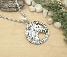 HORSE & WESTERN JEWELLERY JEWELRY CHUNKY  HORSE HEAD  NECKLACE SILVER CRYSTALS
