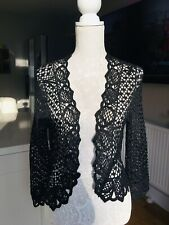 Ladies Wallis Black Shrug Cardigan Top Size Large Petite