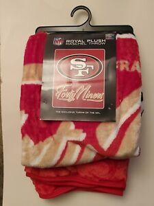 New San Francisco 49ers Northwest Raschel SignatureThrow Blanket 50 X 60 inches
