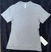 Lululemon Men's Size M 5 Year Basic T Gray HMDG Pima Cotton Soft Core Crew
