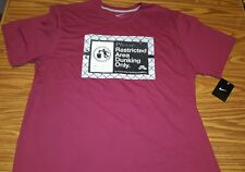 "NWT MEN'S NIKE ""RESTRICTED AREA DUNKING ONLY"" BASKETBALL T-SHIRT BURGUNDY 2XL"