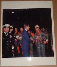 1962 President John Kennedy Original Photo: Inspects Seamen on USS Northampton