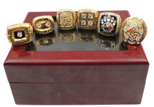 6 Pcs 1974 1975 1978 1979 2005 2008 Pittsburgh Steelers Championship Ring Gift !