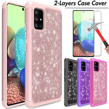 For Samsung Galaxy A01/A51/A71 5G Phone Case Bling Cover/Glass Screen Protector