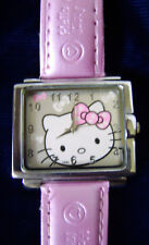 Woman's HELLO KITTY Watch - Pink band with Rectangle Case / needs battery