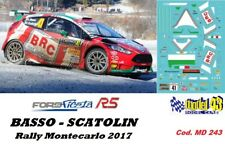 DECAL  1/43 -  FORD  FIESTA R5  - BRC -  BASSO - Rally  MONTECARLO  2017