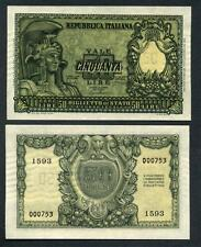50 Lire  31.12.1951 ITALIA ELMATA  in fds  ass.
