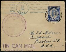 1936 NIUAFOOU, TONGA OCT 29 BLACK CDS ON TIN CAN MAIL LETTER BQ6714