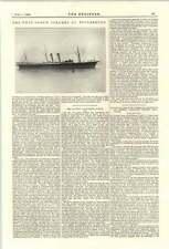 1894 Twin Screw Steamer St Petersburg Hawthorn Leslie Hebburn Russian Volunteer