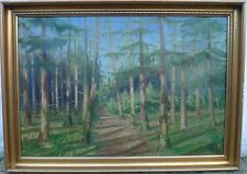 WindowsPE. Willy Bille (1889-1944) illuminato conifere/collages