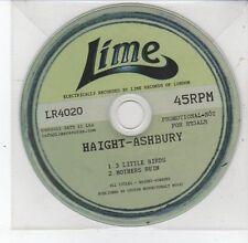 (DS753) Haight-Ashbury, 3 Little Birds / Mothers Ruin - 2011 DJ CD