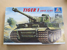 ITALERI 1:35 Tiger I Ausf. E/H1 Model Kit #286 NEW Released in 1995