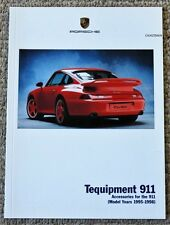 PORSCHE ORIGINAL 993 TEQUIPMENT BROCHURE 911 TURBO 1995-1998 CARRERA VERY RARE!