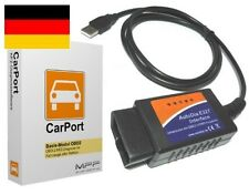 CarPort OBD2 II Diagnosegerät Software + Interface CAN Audi VW Skoda Seat Opel