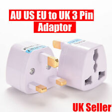 EU 2 Pin To 3 Pin UK Electric Shaver Toothbrush Plug Adaptor/Plug Travel Charger