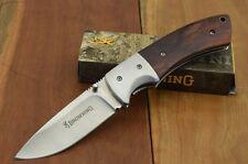 Couteau Browning Cocobolo Lame Acier 440 Manche Bois Cocobolo Liner BR0094