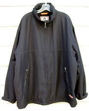 Weatherproof Black Microfleece Lined Coat Jacket w Stowaway Hood Men's XXL
