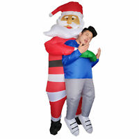 Adults Santa Claus Inflatable Costume Christmas Halloween Carnival Cosplay Party