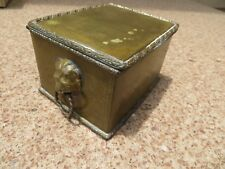 Brass Box & Lid , Shows Lots of Character & Patina Collectibles Jewelry Ammo