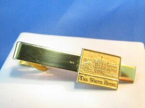 Vintage White House Tie Bar Gold Metal