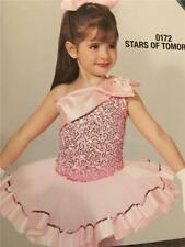 Dance Costume ballet  jazz   Skate  Tap pink pageant stars of tomorrow