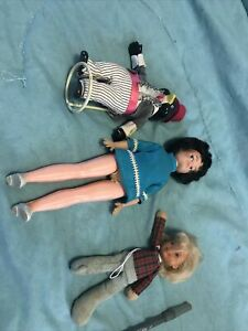 Three vintage dolls