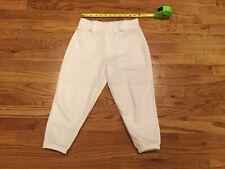 Boys EASTON white knee-length baseball pants size Youth Large YL