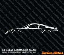 2x silhouette stickers aufkleber - for Porsche 911 Turbo, 991 (2012+) tuning