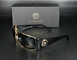 VERSACE VE2163 100287 Gold Gray 63 mm Men's Sunglasses