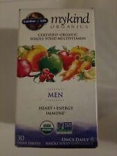 Garden of Life Vegan Organic Men's Multi Vitamin 30 Tablets Exp 09/22 (D1)